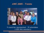 AWE 2005 Speakers